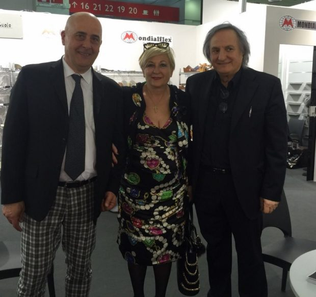 Monaco Eliseo Doria Gianfranco e presidente assocalzaturifici Anna Rita Pilotti