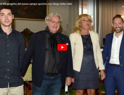 Presentazione del progetto del nuovo campo sportivo con Diego Della Valle